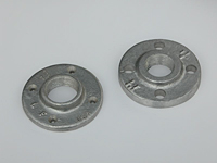 Flange, Floor (Left) Threaded (Right)